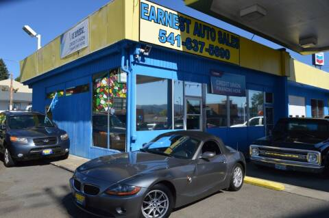 2004 BMW Z4 for sale at Earnest Auto Sales in Roseburg OR