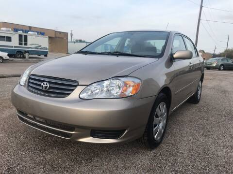 2004 Toyota Corolla for sale at BJ International Auto LLC in Dallas TX