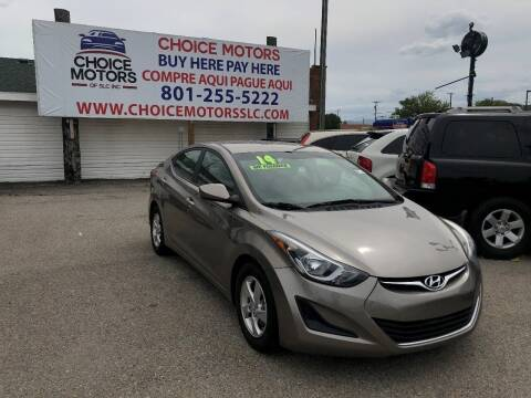 2014 Hyundai Elantra for sale at Choice Motors of Salt Lake City in West Valley  City UT