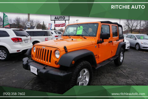 2013 Jeep Wrangler Unlimited for sale at Ritchie Auto in Appleton WI