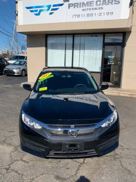 2017 Honda Civic for sale at Prime Cars Auto Sales in Saugus MA
