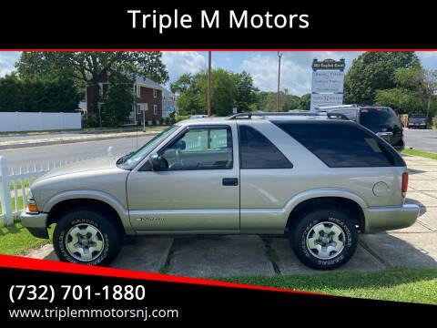2004 Chevrolet Blazer for sale at Triple M Motors in Point Pleasant NJ