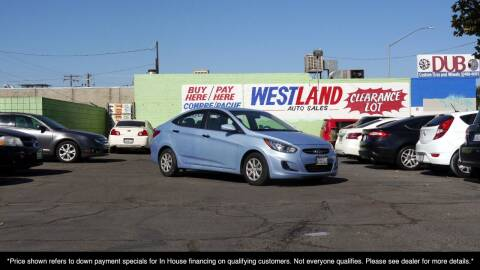 2012 Hyundai Accent for sale at Westland Auto Sales on 7th in Fresno CA