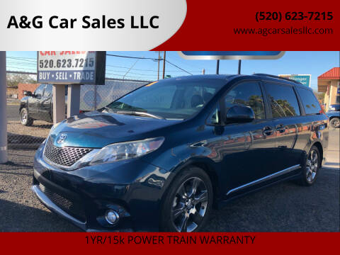 2011 Toyota Sienna for sale at A&G Car Sales  LLC in Tucson AZ