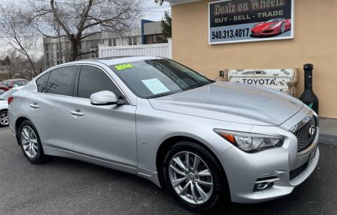 2014 Infiniti Q50 for sale at DEALZ ON WHEELZ in Winchester VA