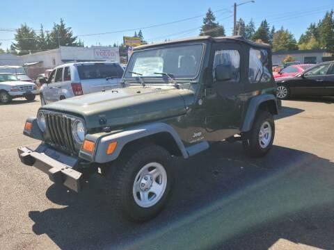 2006 Jeep Wrangler for sale at SS MOTORS LLC in Edmonds WA