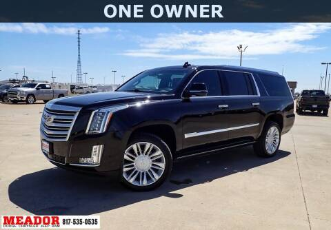 2019 Cadillac Escalade ESV for sale at Meador Dodge Chrysler Jeep RAM in Fort Worth TX