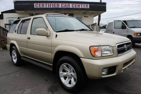 2002 Nissan Pathfinder for sale at CERTIFIED CAR CENTER in Fairfax VA