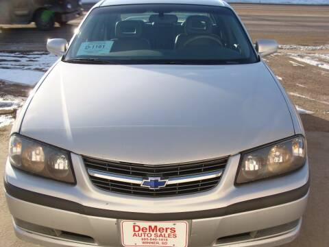 2002 Chevrolet Impala for sale at DeMers Auto Sales in Winner SD