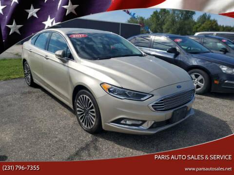 2017 Ford Fusion for sale at Paris Auto Sales & Service in Big Rapids MI