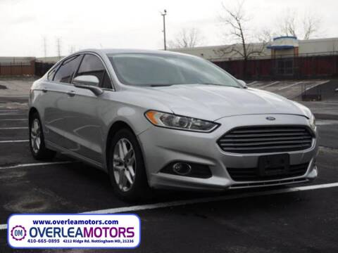 2014 Ford Fusion for sale at Overlea Motors in Baltimore MD