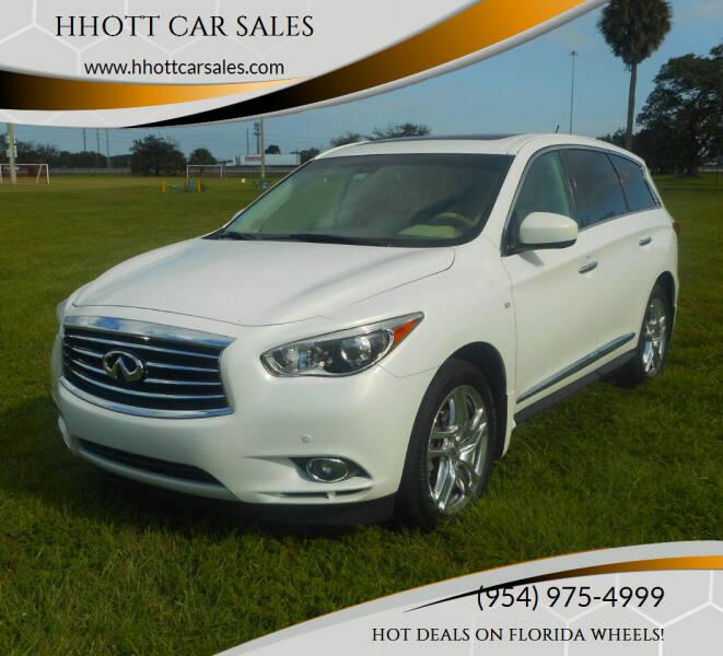 2014 Infiniti QX60 for sale at HHOTT CAR SALES in Deerfield Beach FL