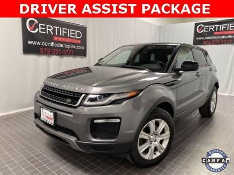 2018 Land Rover Range Rover Evoque for sale at CERTIFIED AUTOPLEX INC in Dallas TX