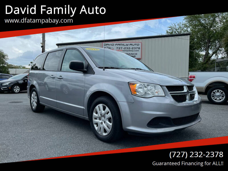2018 Dodge Grand Caravan for sale at David Family Auto in New Port Richey FL