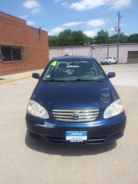 2004 Toyota Corolla for sale at Arak Auto Group in Kankakee IL