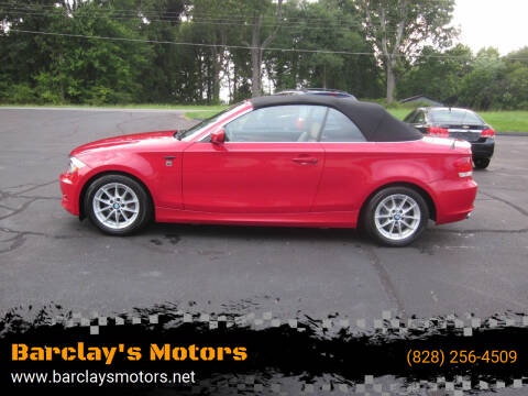 2011 BMW 1 Series for sale at Barclay's Motors in Conover NC