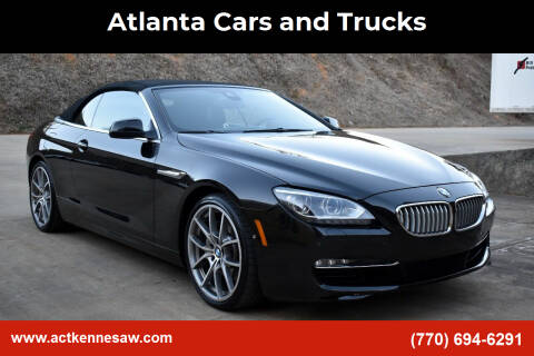 2013 BMW 6 Series for sale at Atlanta Cars and Trucks in Kennesaw GA