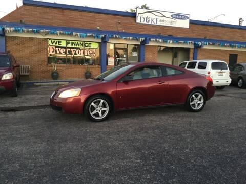 2009 Pontiac G6 for sale at Duke Automotive Group in Cincinnati OH