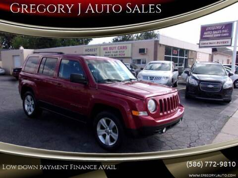 2013 Jeep Patriot for sale at Gregory J Auto Sales in Roseville MI