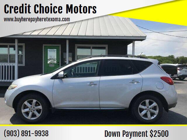 2009 Nissan Murano for sale at Credit Choice Motors in Sherman TX