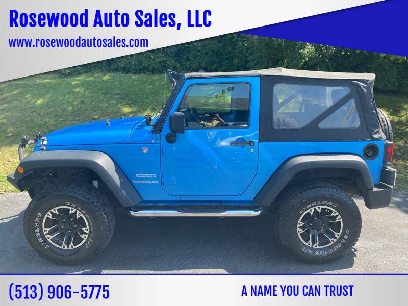 2010 Jeep Wrangler for sale at Rosewood Auto Sales, LLC in Hamilton OH