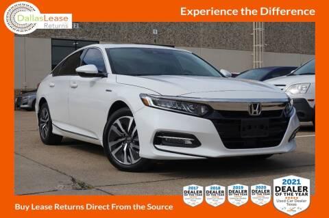 2020 Honda Accord Hybrid for sale at Dallas Auto Finance in Dallas TX