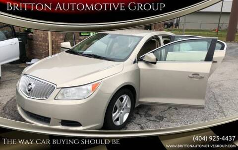 2011 Buick LaCrosse for sale at Britton Automotive Group in Loganville GA