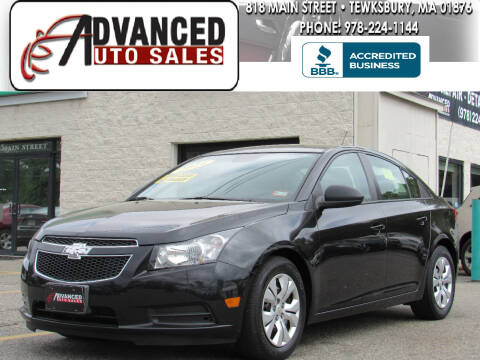 2014 Chevrolet Cruze for sale at Advanced Auto Sales in Tewksbury MA