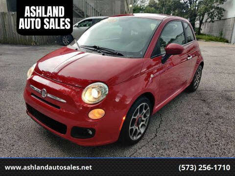 2013 FIAT 500 for sale at ASHLAND AUTO SALES in Columbia MO