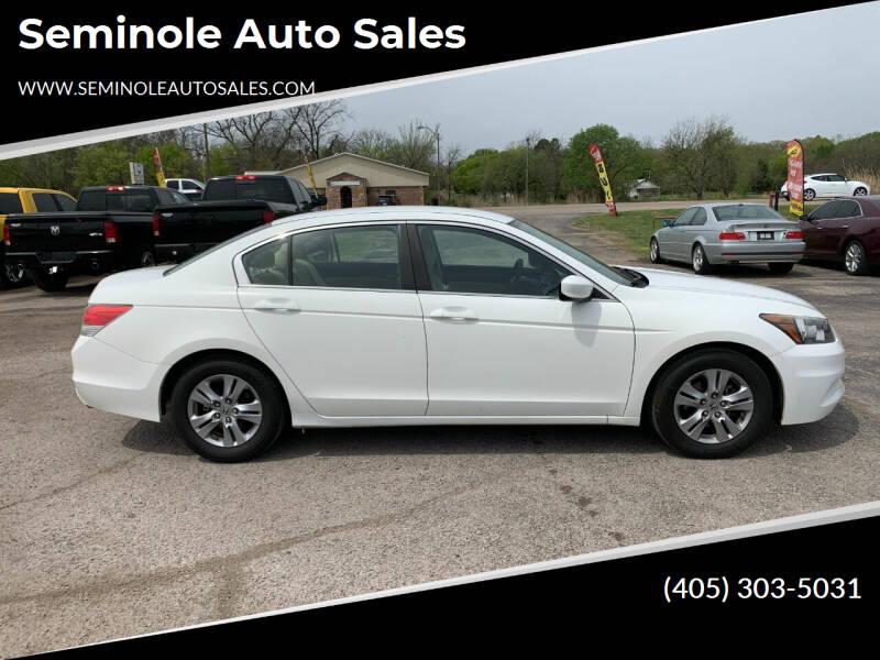 2012 Honda Accord for sale at Seminole Auto Sales in Seminole OK