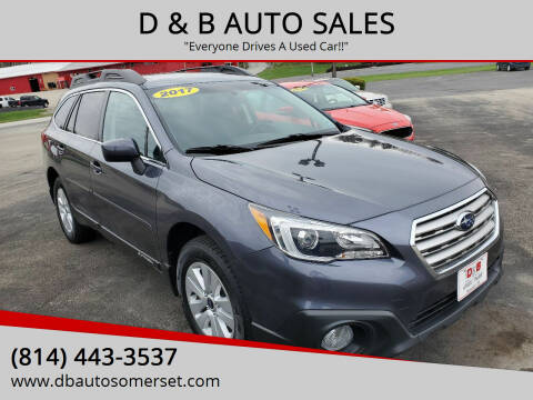 2017 Subaru Outback for sale at D & B AUTO SALES in Somerset PA