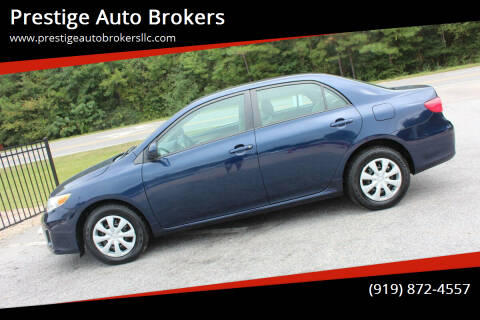 2011 Toyota Corolla for sale at Prestige Auto Brokers in Raleigh NC
