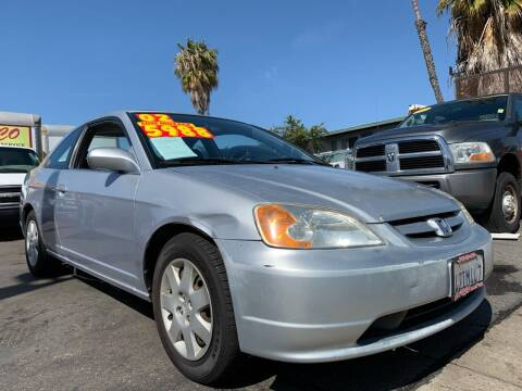 2002 Honda Civic for sale at CARCO SALES & FINANCE - Under 7000 in Chula Vista CA