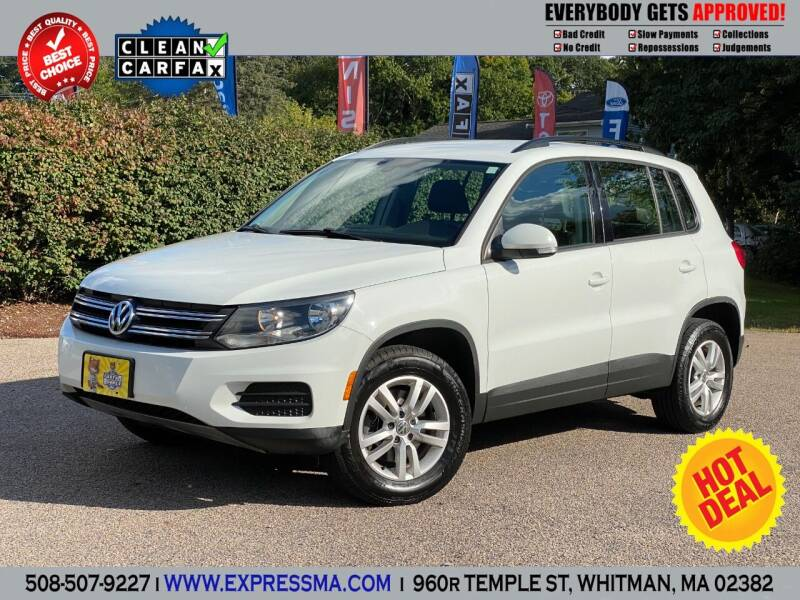 2016 Volkswagen Tiguan for sale at Auto Sales Express in Whitman MA