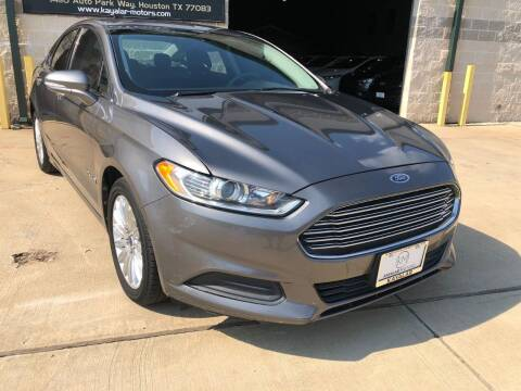 2013 Ford Fusion Hybrid for sale at KAYALAR MOTORS Mechanic in Houston TX