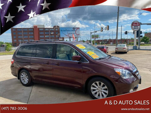 2007 Honda Odyssey for sale at A & D Auto Sales in Joplin MO