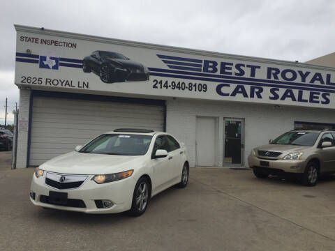 2011 Acura TSX for sale at Best Royal Car Sales in Dallas TX