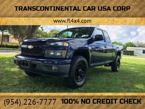 2010 Chevrolet Colorado for sale at Transcontinental Car USA Corp in Fort Lauderdale FL