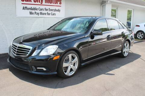 2011 Mercedes-Benz E-Class for sale at Oak City Motors in Garner NC