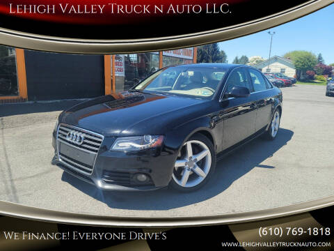 2009 Audi A4 for sale at Lehigh Valley Truck n Auto LLC. in Schnecksville PA