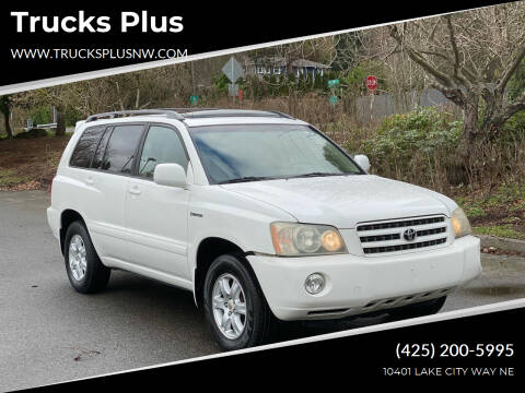 2003 Toyota Highlander for sale at Trucks Plus in Seattle WA