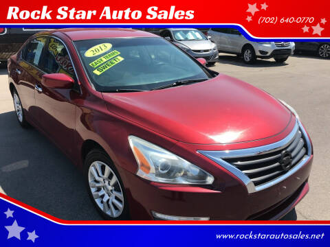 2013 Nissan Altima for sale at Rock Star Auto Sales in Las Vegas NV