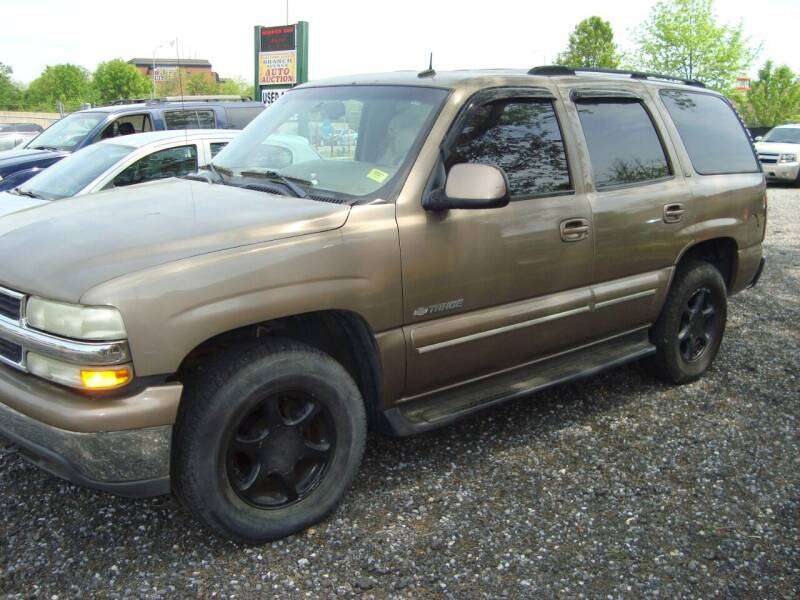 2003 Chevrolet Tahoe for sale at Branch Avenue Auto Auction in Clinton MD