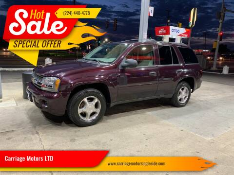 2008 Chevrolet TrailBlazer for sale at Carriage Motors LTD in Ingleside IL