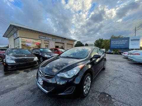 2012 Hyundai Elantra for sale at USA Auto Sales & Services, LLC in Mason OH