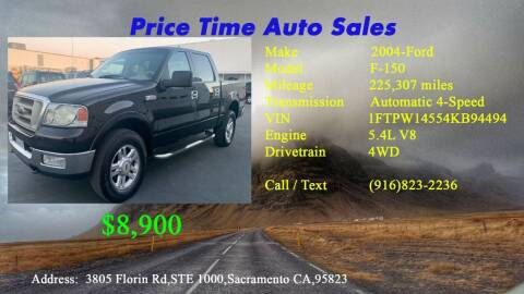 2004 Ford F-150 for sale at PRICE TIME AUTO SALES in Sacramento CA