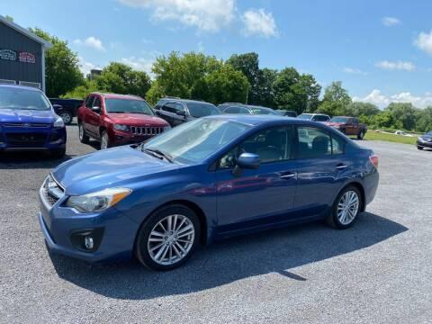 2012 Subaru Impreza for sale at Riverside Motors in Glenfield NY
