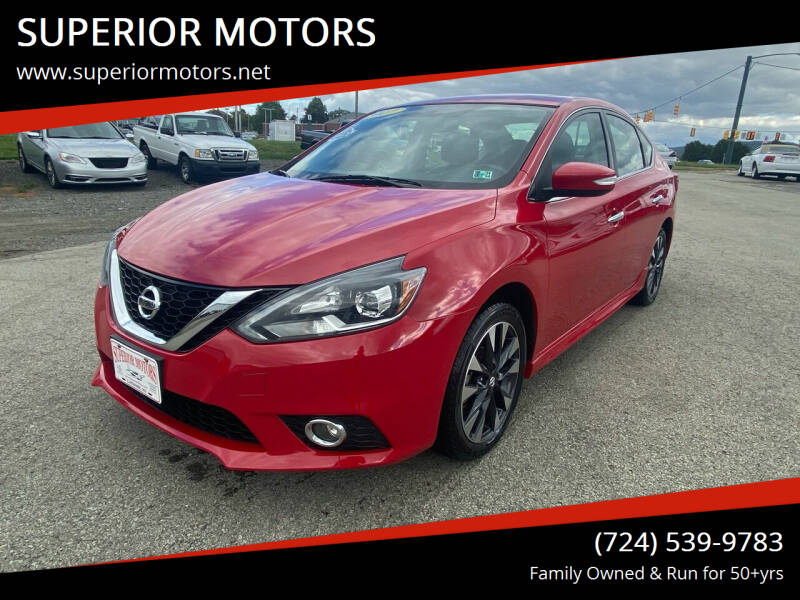 2017 Nissan Sentra for sale at SUPERIOR MOTORS in Latrobe PA