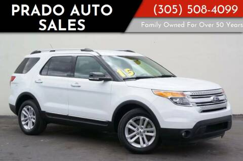 2015 Ford Explorer for sale at Prado Auto Sales in Miami FL