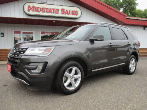 2017 Ford Explorer for sale at Midstate Sales in Foley MN